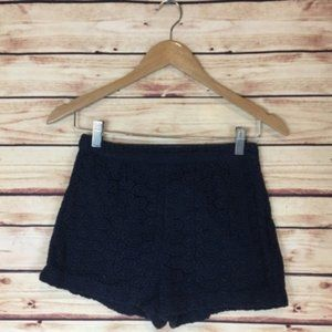 Forever 21 Crochet Lace Shorts High Waisted Navy S